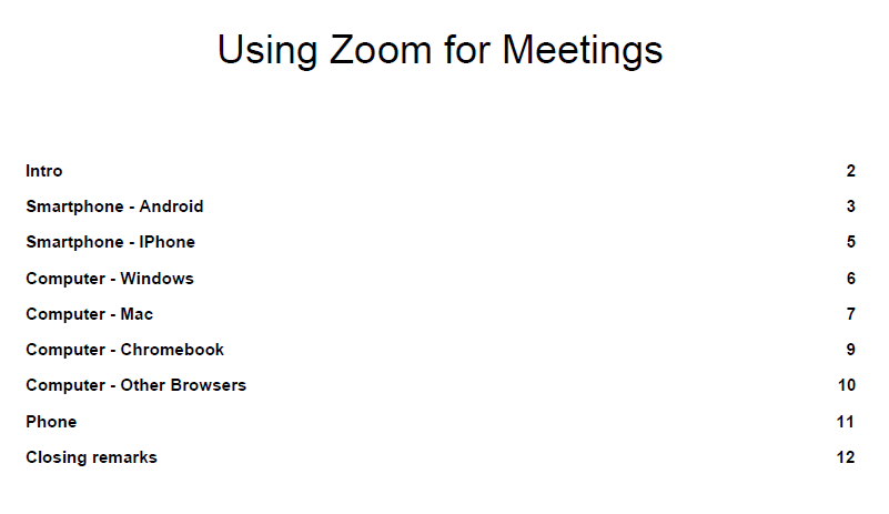 A document to help with installing Zoom