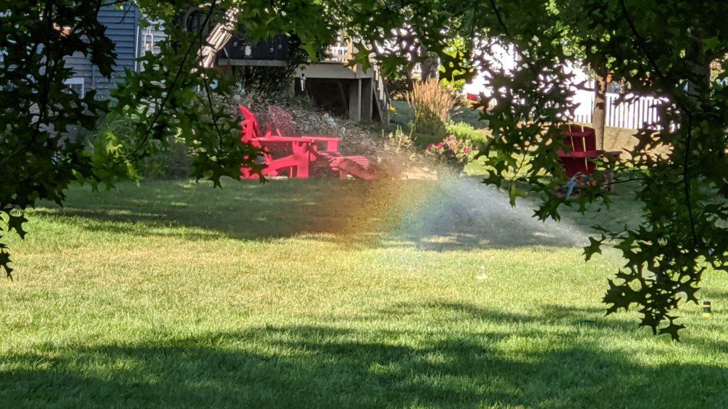 Rainbows in the sun