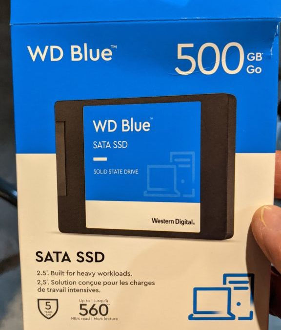 Replaced Old drive with SSD